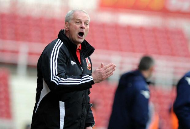 Swindon Town boss Kevin MacDonald
