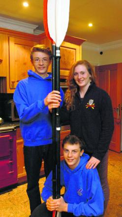 Triplets Harry, Ruby and Freddie Holt are taking part in the Devizes to Westminster canoe race