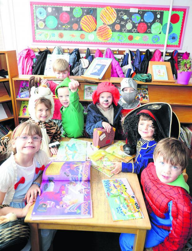 The Wiltshire Gazette and Herald: Southbroom Infants School pupils Maddison, Mimi, Harrison, Lewis, Reece, Damon, Henry and Tyler dressed up for the day