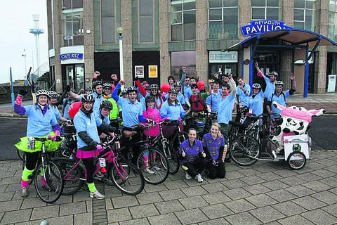 Malmesbury Young Farmers' Club members arrive at Weymouth after their 120-mile journey