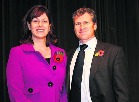 Claire Perry MP and her husband Clayton at an event in Devizes. The couple are splitting up