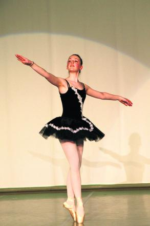 Lydia Robinson took part in the Hardenhuish dance show