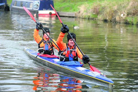 Brothers James and Henry Roberts, of Devizes Canoe Club, set off on Good Friday