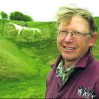 Rob Pickford chairman of the white horse group with work going in the background