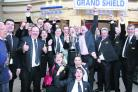 Aldbourne Band members celebrate success at the British Open Spring Festival in Blackpool