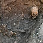 Researchers say the remains of King Richard III were buried in a hastily dug grave (University of Leicester/PA)