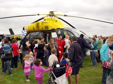 Visitors examine Wiltshire Air Ambulance at last year's Emergency Services Show