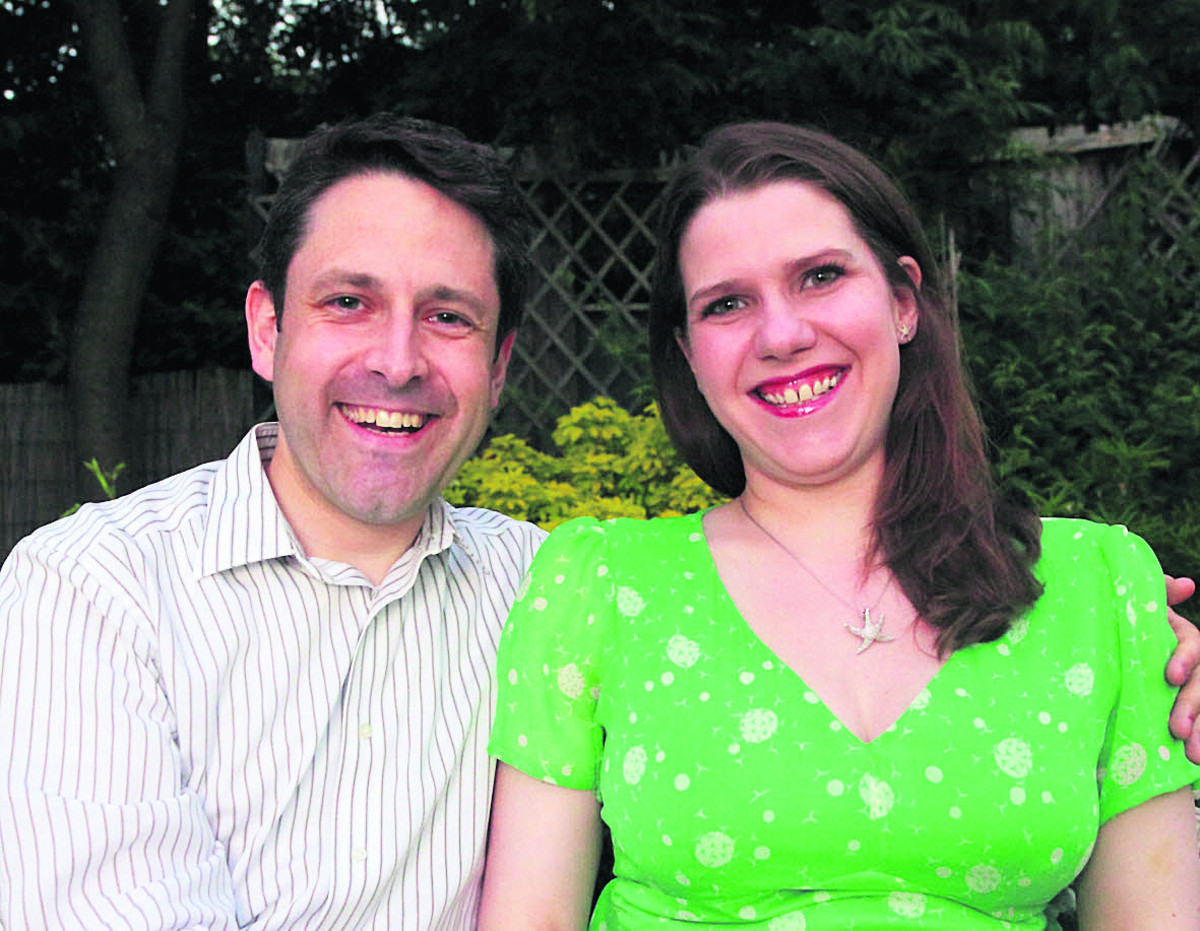 Duncan Hames and his wife Jo Swinson. Picture by John Russell