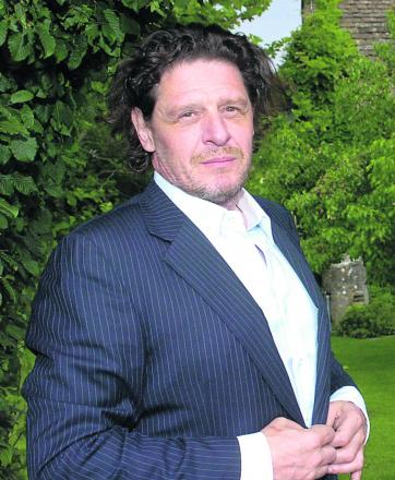 Marco Pierre White in the grounds of the Pear Tree at Whitley. Picture by Trevor Porter