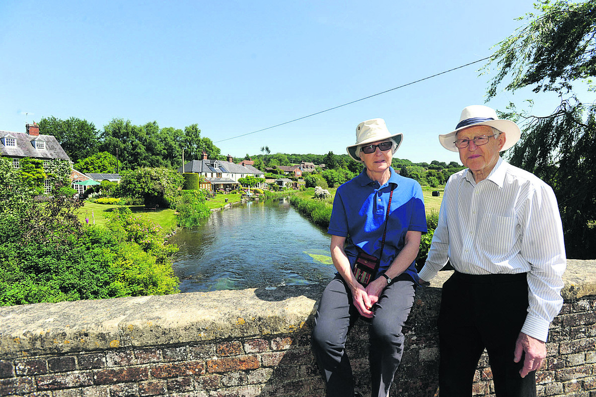 ARK volunteers Anna and Martin Harrison maintain their river watch from Mildenhall Bridge