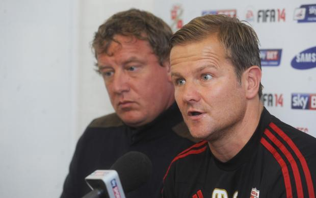 Mark Cooper (right) with chairman Lee Power