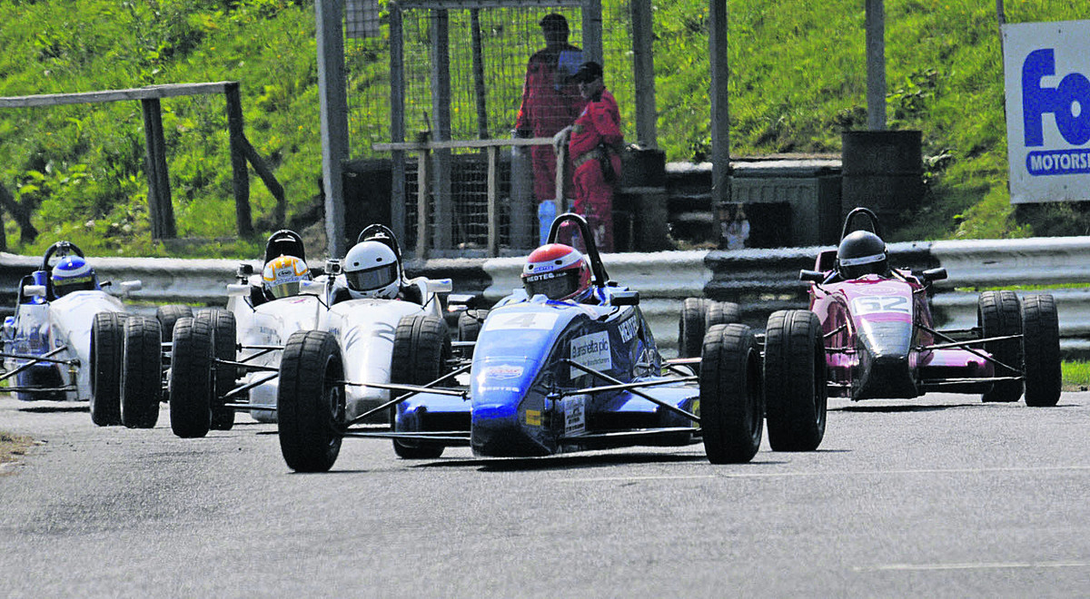 MOTOR RACING: Revving up for the start at Combe