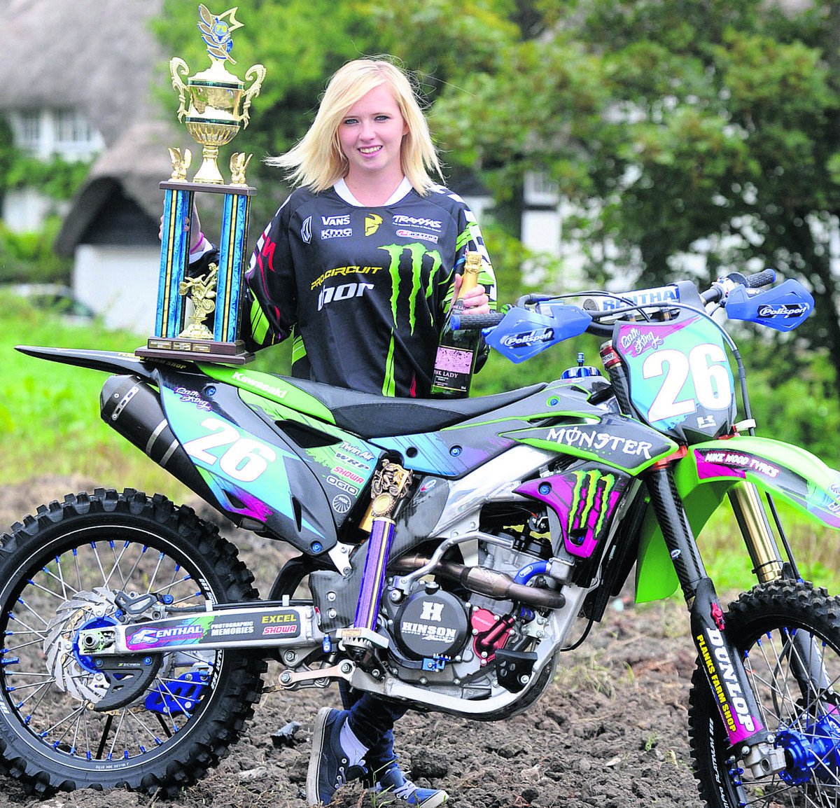 Motocross bike queen catherine unruffled by injury from the