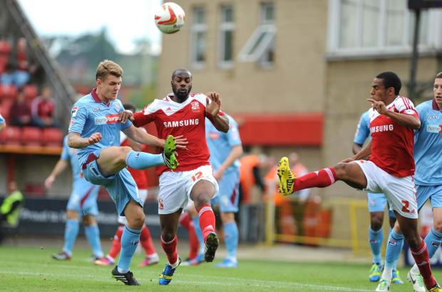 The Wiltshire Gazette and Herald: Goalscorer Dany N'Guessan in action