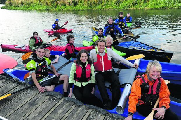 Olympian James Cracknell during a visit to Chippenham Sailing Club last year