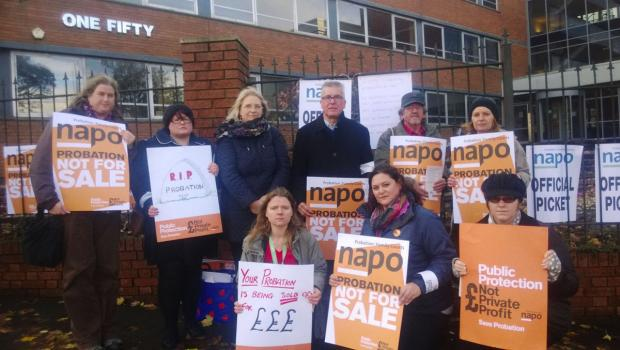 Workers at Wiltshire's probation service took to the streets to campaign against proposals to privatise the service