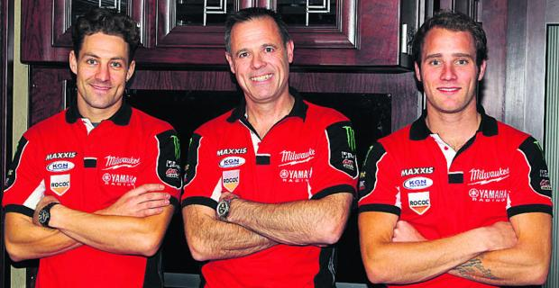 ommy Bridewell (right) with new teammate Josh Brookes (left) and team boss Shaun Muri