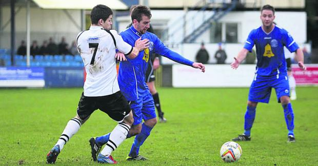 Chippenham Town's James Guthrie was on target against Bashley