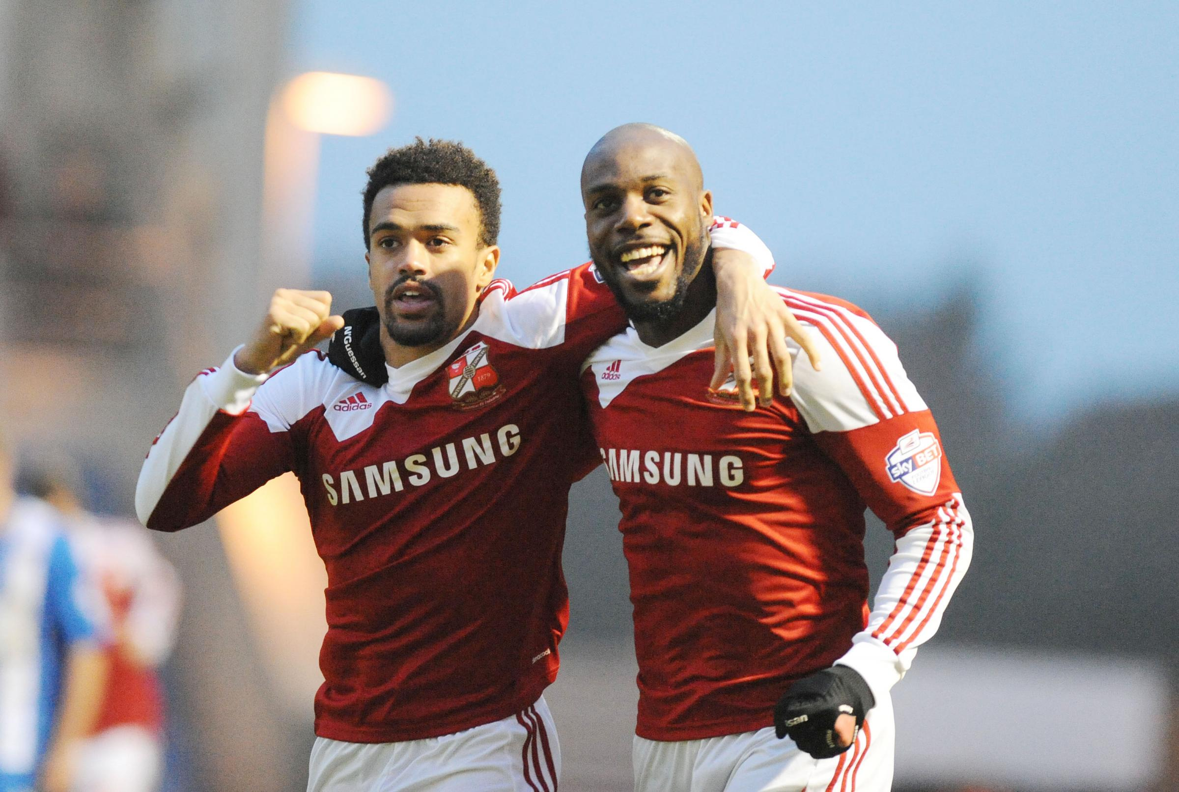 Preston are thought to be interested in taking Dany N'Guessan, right, away from the County Ground