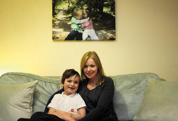 The Wiltshire Gazette and Herald: Niki Connor and her younger son Louis. She set up the Finlay Foundation following the death of her son Finlay, below					               (tk719) By thomas kelsey