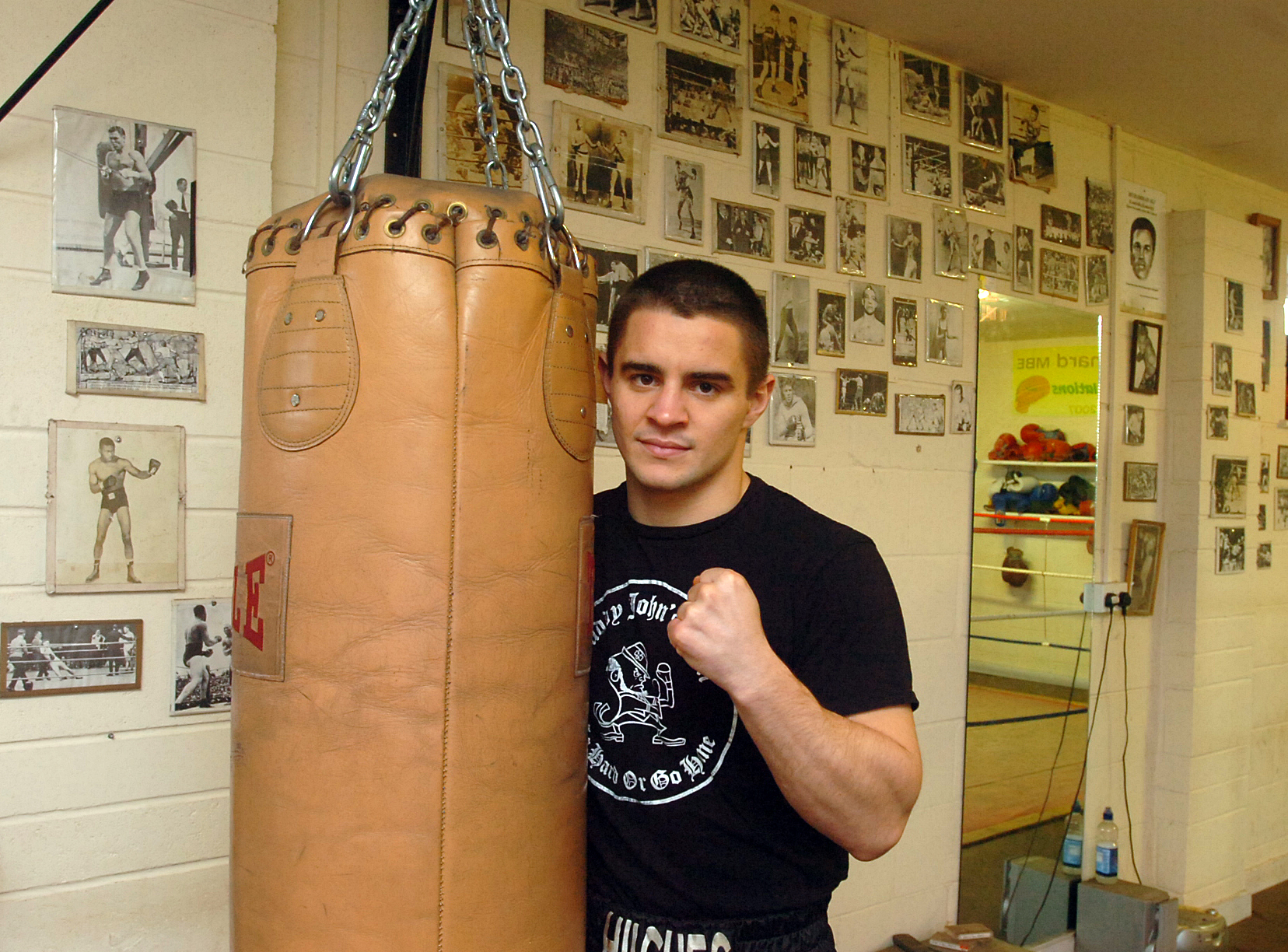 Joe Hughes, pictured at his Malmesbury gym