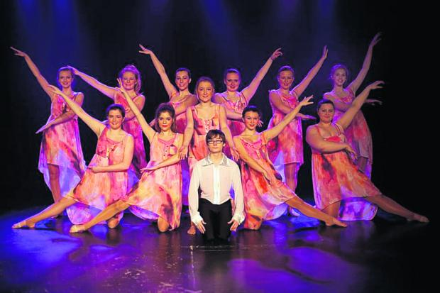 The Wiltshire Gazette and Herald: Students from the Emily Alner Academy of Dance in rehearsal for this weekend's shows