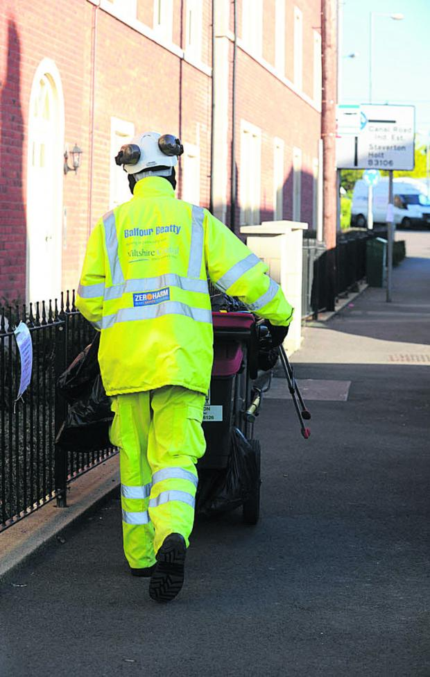 The Wiltshire Gazette and Herald: A Balfour Beatty worker in Trowbridge