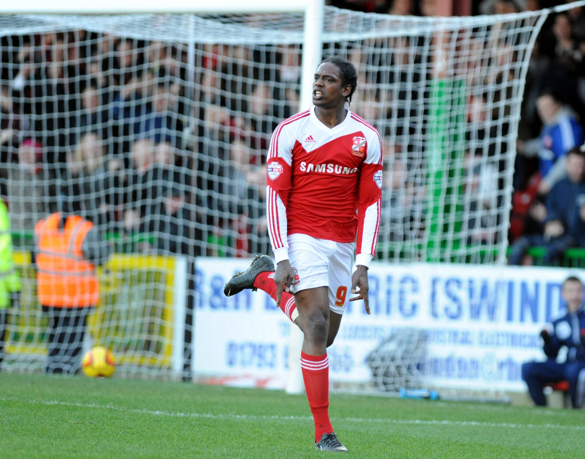 Swindon Town striker Nile Ranger has been ruled out for the rest of the season