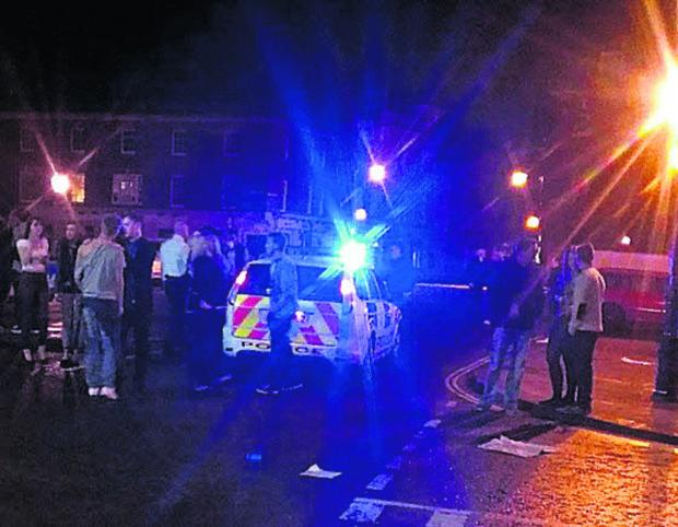 The Wiltshire Gazette and Herald: A picture posted online of the scene outside the Corn Exchange, Devizes, early on Sunday morning
