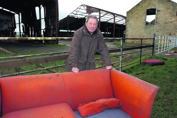 Farmer Nick Bush has tried in vain to deter doggers from meeting at his barn