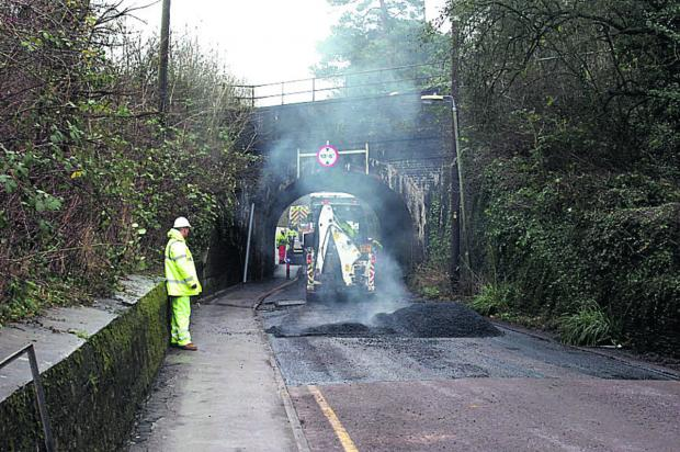 Work is being finished at Lowden Hill tunnel