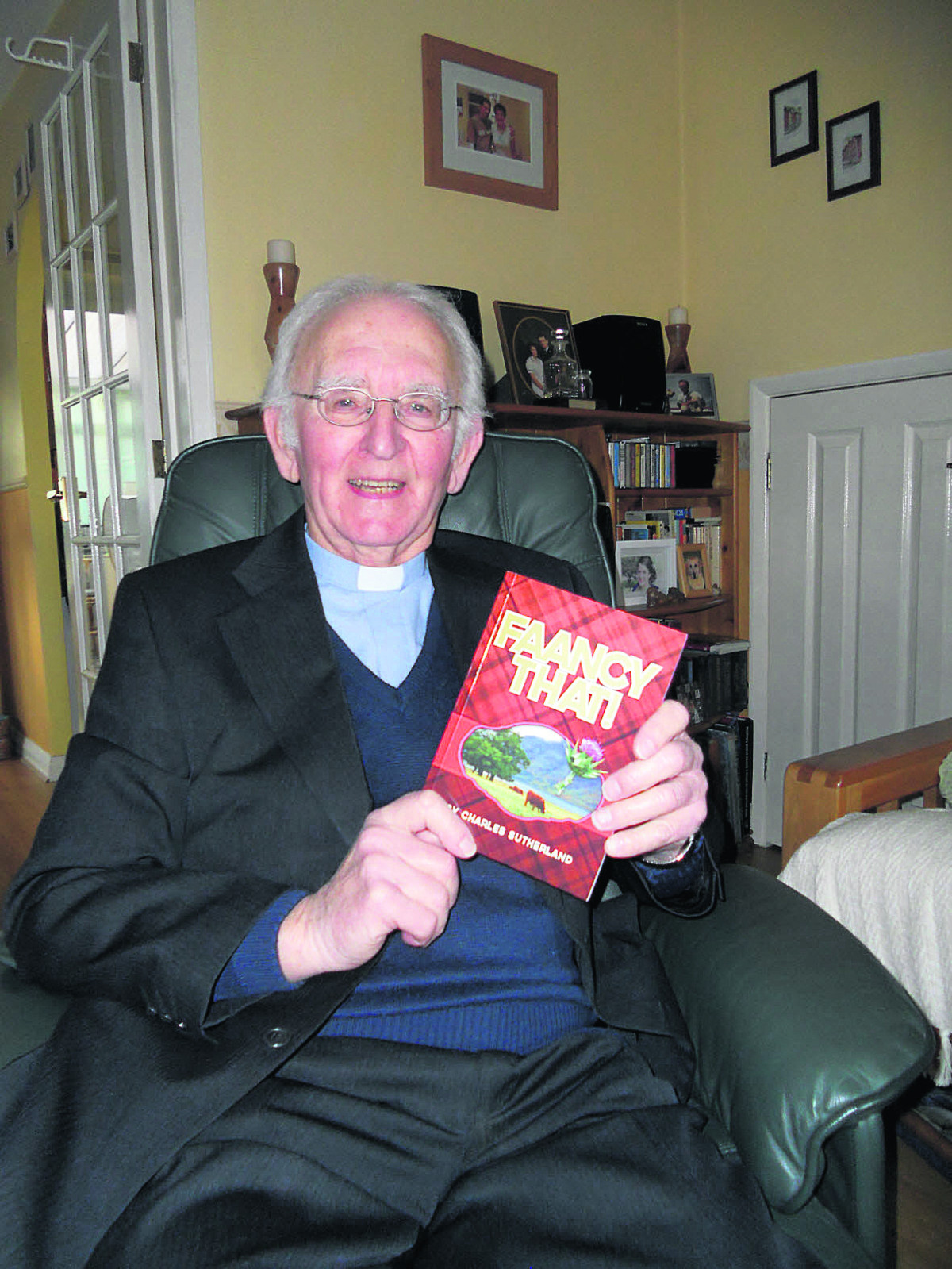 The Rev Charles Sutherland from Devizes with his new book called Faancy That!