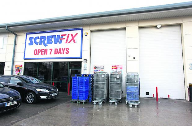 Screwfix plans to open at Marlborough Business Park early in February