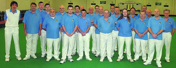 Wiltshire's team, pictured before last weekend's Liberty Trophy tie against Somerset at North Wilts Indoor Bowls Club, in Chippenham              Pictures by Paul Morris (PM981-00)