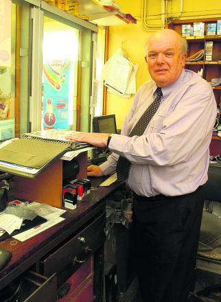Postmaster Peter Smith is handing over the reins