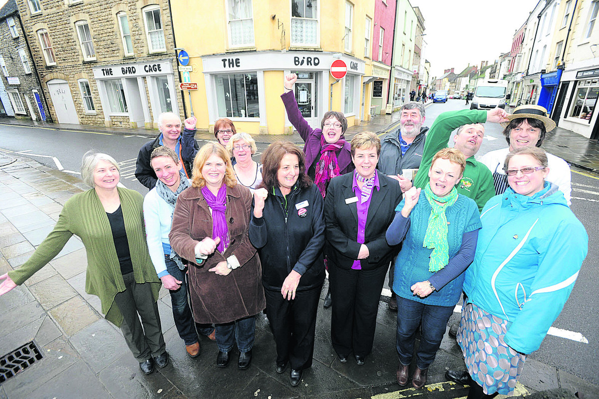 Malmesbury High Street's success is celebrated