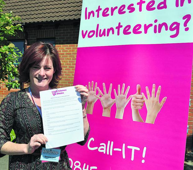 Simone Lord, Volunteer Centre Wiltshire manager, says the Valuing Volunteers Promise allows groups to demonstrate to current and potential volunteers that they are committed to ensuring they feel valued in their role