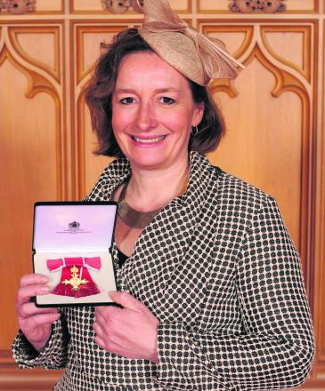 Good Energy chief executive and founder Juliet Davenport when she was made an OBE in April last year