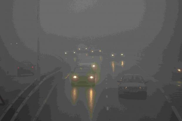 The Wiltshire Gazette and Herald: Fog can be a hazard on the roads