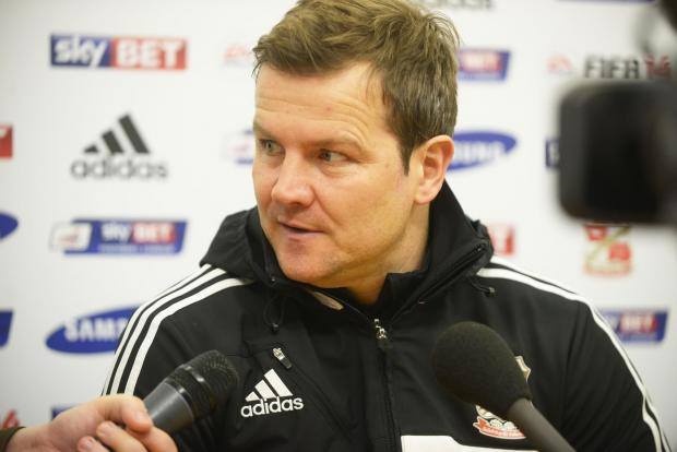 Swindon Town boss Mark Cooper