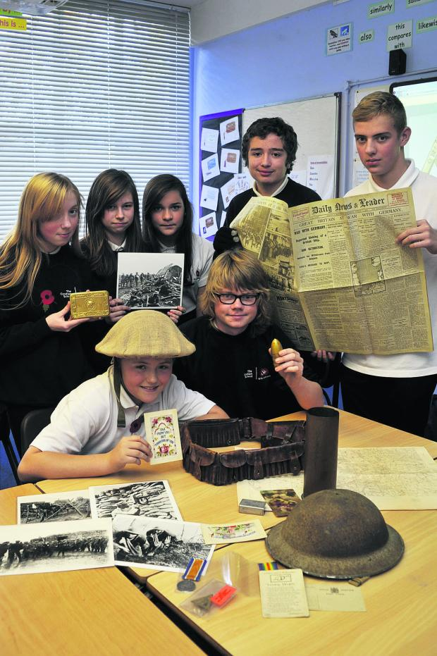 The Wiltshire Gazette and Herald: Corsham School learn about the First World War