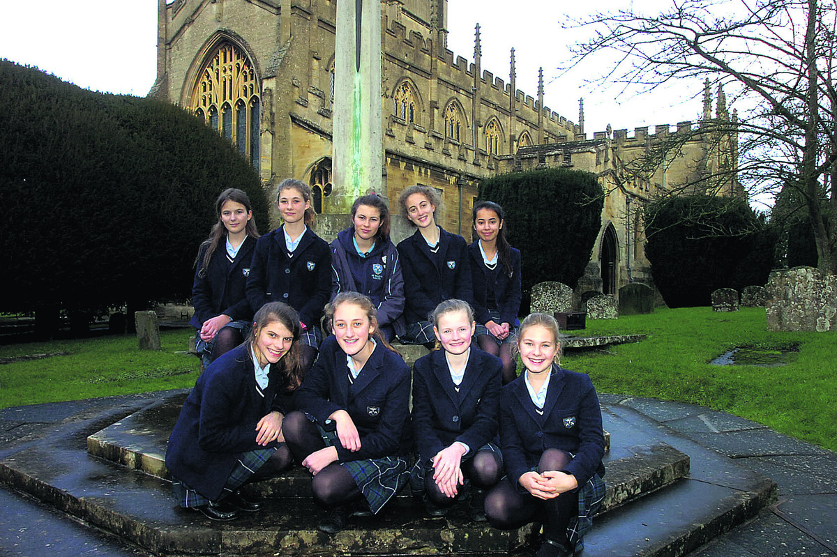 Pupils from St Mary's School, Calne, who are taking part in a First World War project