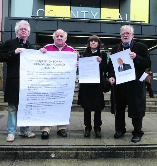 The Wiltshire Gazette and Herald: Independent councillors Ernie Clark, Terry Chivers, Helen and Jeff Osborn call for Wiltshire Council to rescind the expenses increase