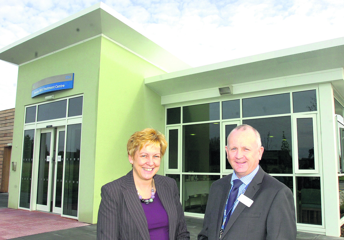 Devizes NHS Treatment Centre with managers Glenys Mansfield and Kevin Walsh