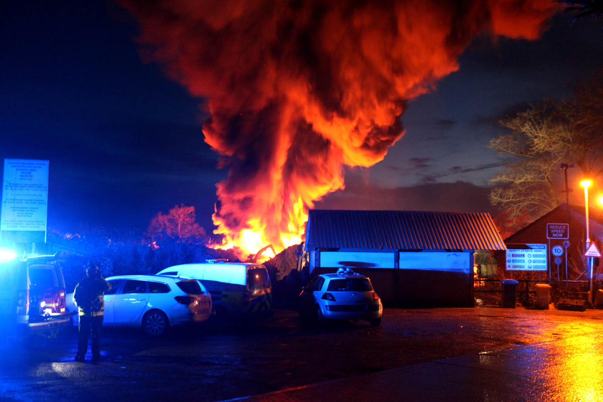 Major fire at Devizes recycling centre: keep windows closed, households told