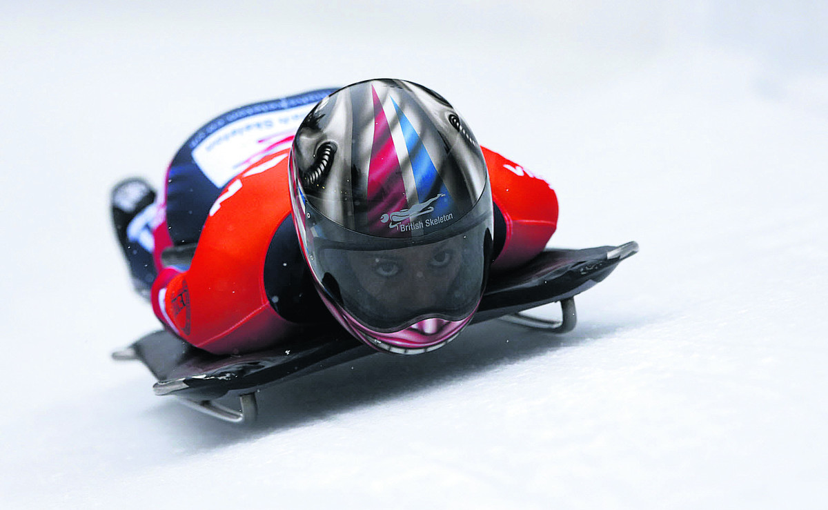 Shelley Rudman slides towards European silver at Konigssee last Friday