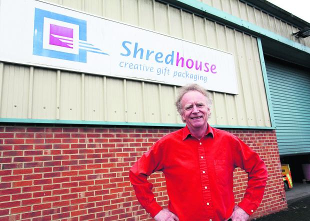 The Wiltshire Gazette and Herald: Shredhouse managing director Phil Stephens at his soon to expand warehouse in Pewsey