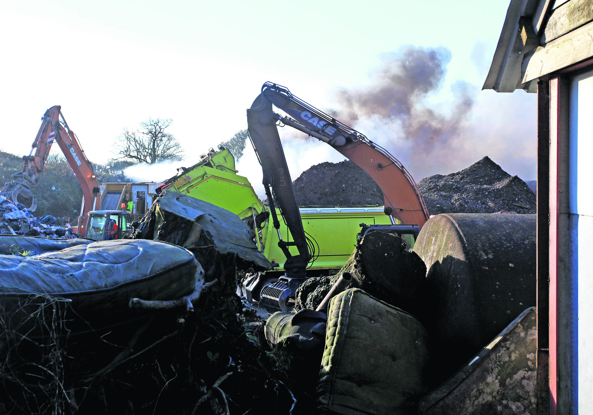Firefighters leave blaze-hit Devizes recycling site
