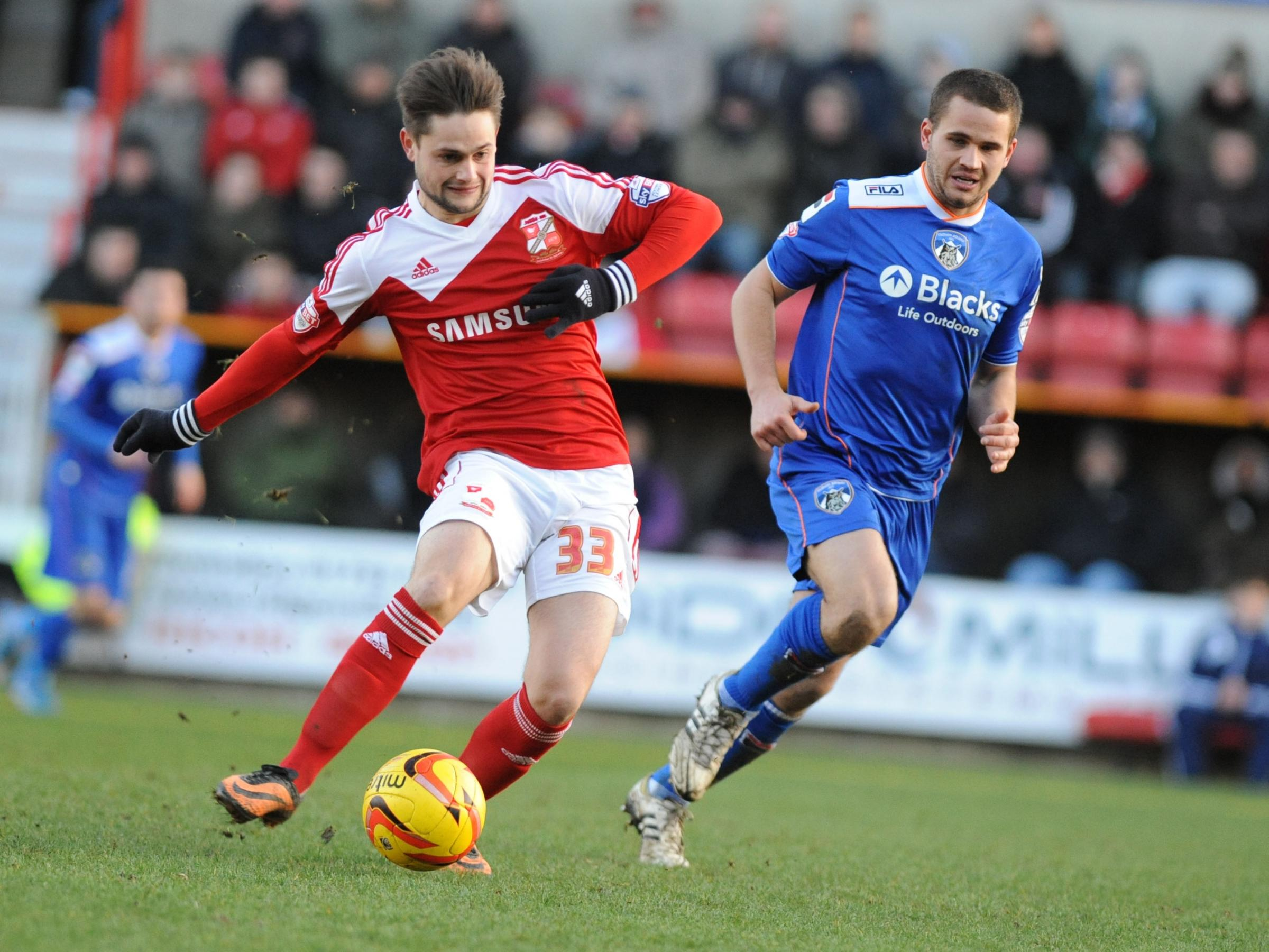 Town striker George Barker wants to make an impression