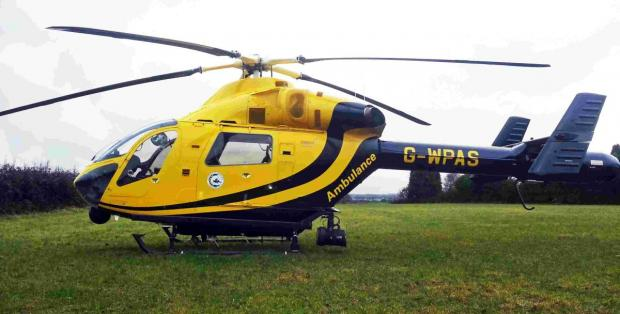 The boy was flown to Southampton General Hospital by Wiltshire Air Ambulance last night but has now died